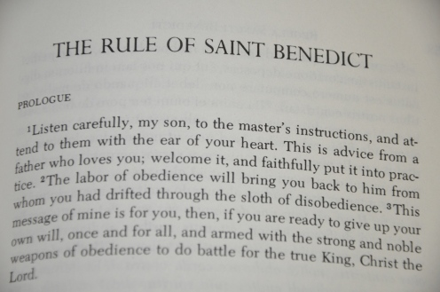 Prologue of Rule of St. Benedict